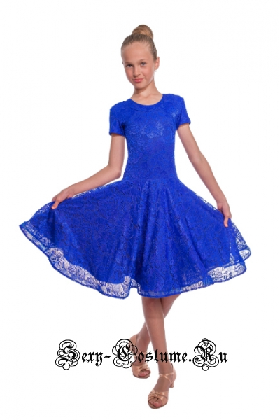 Платье рейтинговое с ригилином рост 116-122см Россия пр1.1р синий