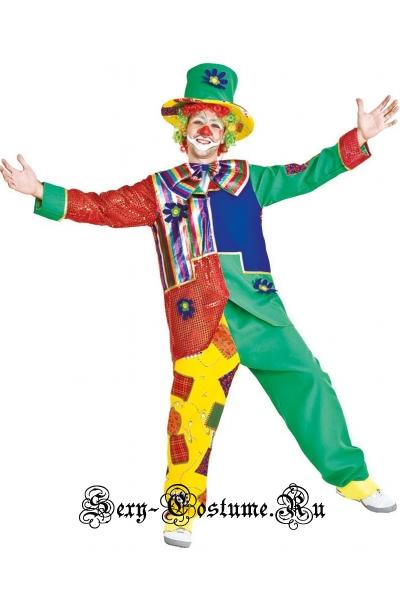 Клоун цирка шапито+ парик скоморох италия veneziano t4474