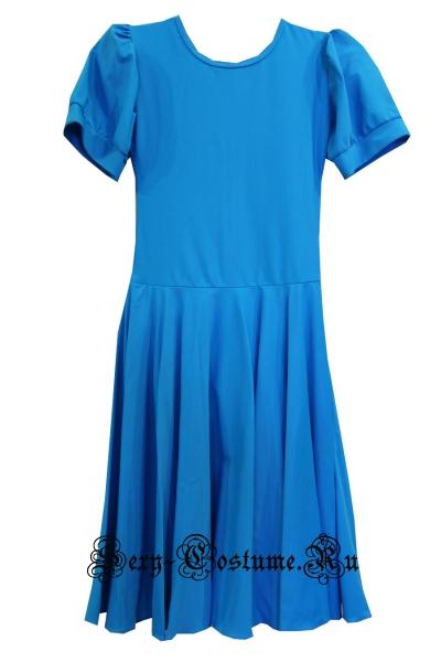 Платье рейтинговое голубое гладкое рост 122-128см Россия пр4.1 голубой