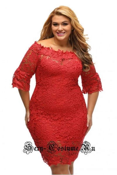 Красное платье клубное узоры n61415