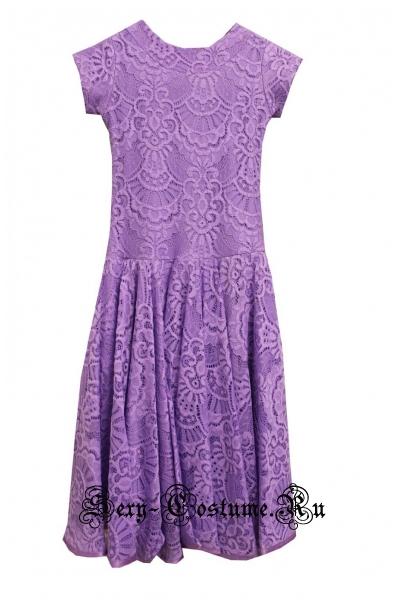 Платье рейтинговое без ригилина сиреневое рост 116-122см Россия пр1.1 сиреневый