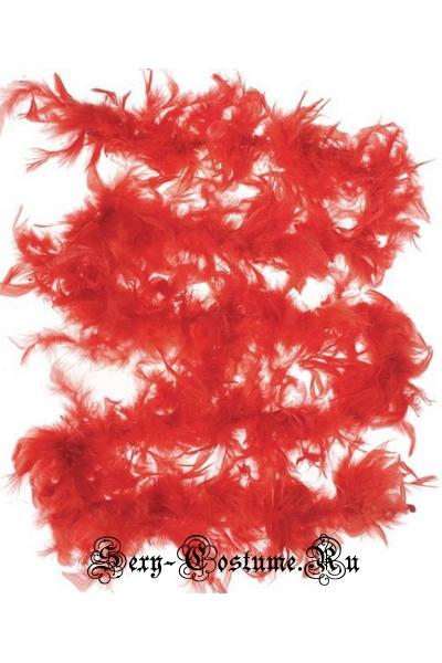 Красное боа  для кан-кан m20012