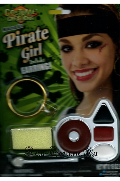 Театральный аквагрим пиратка 4е цвета s37121
