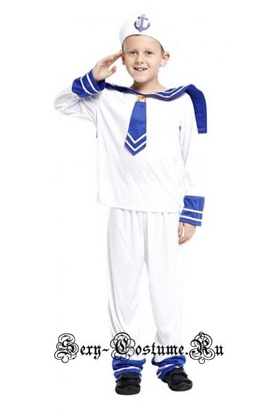 Морячок белый детский до 116см f68079