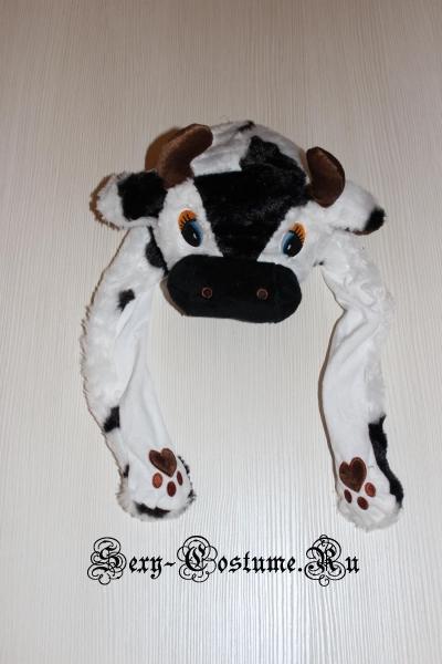 Шапочка бычкателенок с поднимающимися ушами lu2514