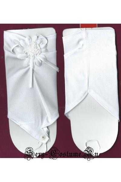 Атласные перчатки на руку с цветком lu9091-2