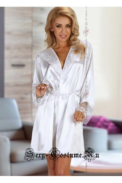Роскошный пеньюар белый классика beauty night fabienne
