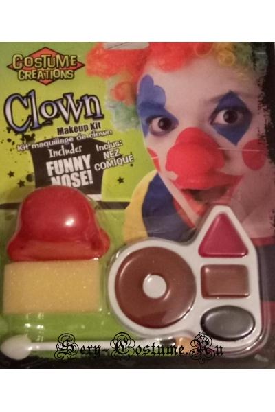Театральный аквагрим клоун 4е цвета s37122