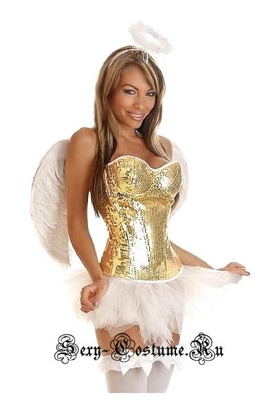 Ангел белый паетки d6321-12