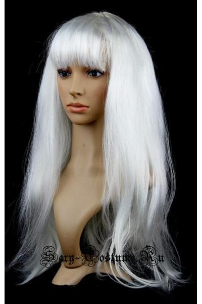 Белый парик 45см m16109
