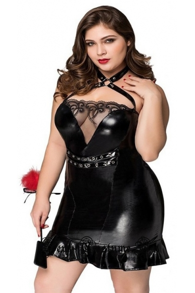 Виниловое платье nightks lu71138