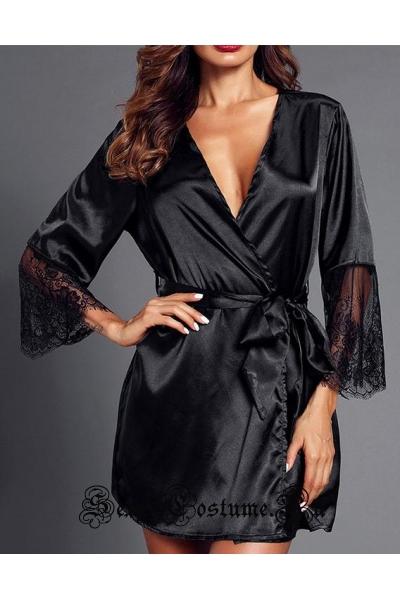 Черный халатик ночная фея m18919