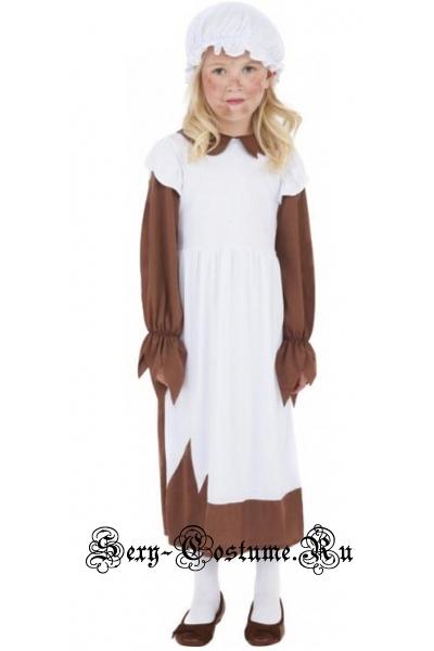 Золушка служанка нищенка девочка хеллоуин m5969