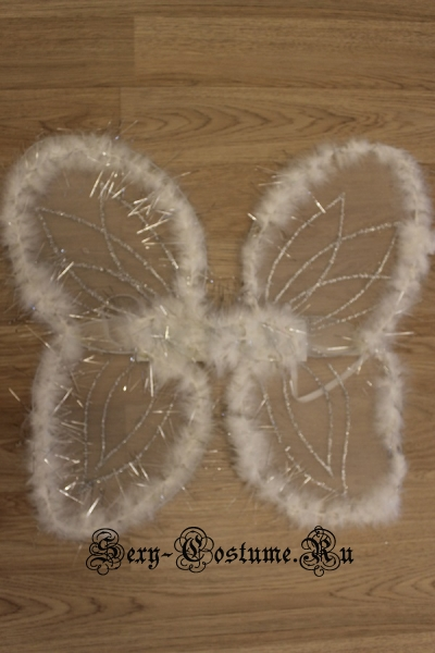Крылья ангела белые капрон на проволоке пуховые cr-002