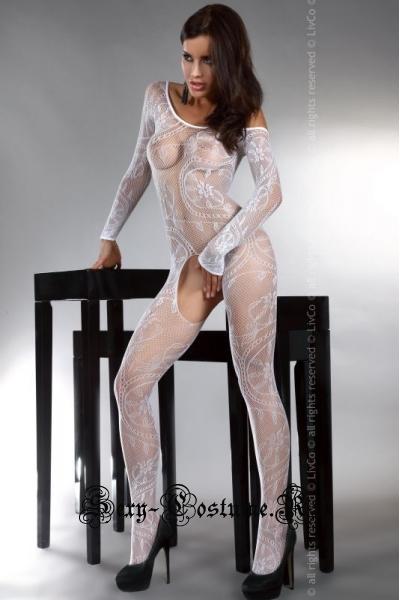 Капроновый комбинезон из чулочной ткани livia corsetti abra white