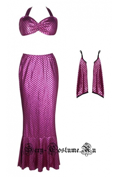 Элегантная фиолетовая  русалочка m11781
