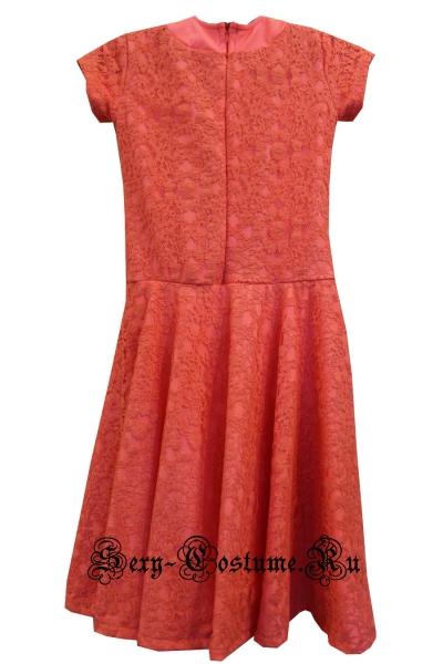 Платье рейтинговое светло-красная на рост 134-140см Россия 103lx персиковый
