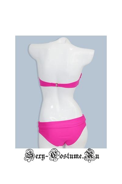 Купальник пуш-ап розовый героиня пляжа d1203