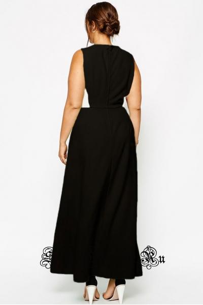 Ченое платье длинное клубное черное с белым 50рр d6765