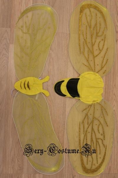 Крылья пчелки на проволоке желтые d6207-6257-1