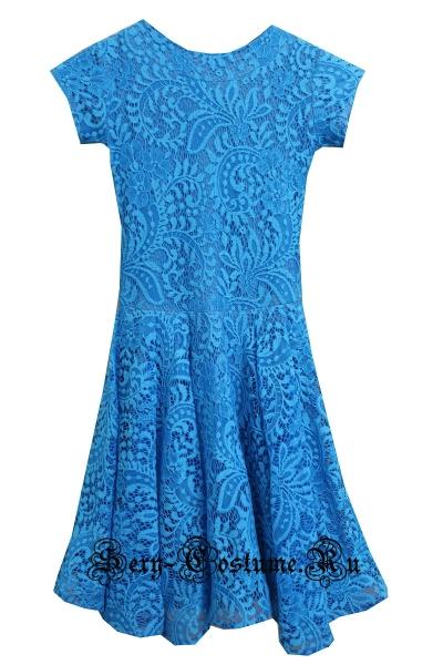 Платье рейтинговое с ригилином светло-голубое рост 116-122см Россия пр1.1р голубой