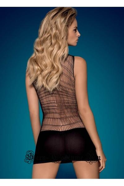 Капроновое платье черное симпотное obsessive d 603 dress