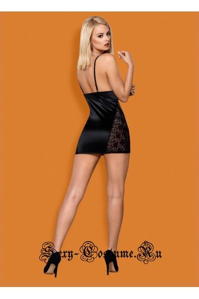 Сорочка черная obsessive 846 chemise