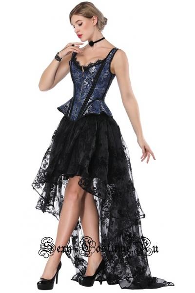 Танцовщица кан-канкорсетный костюм m17477