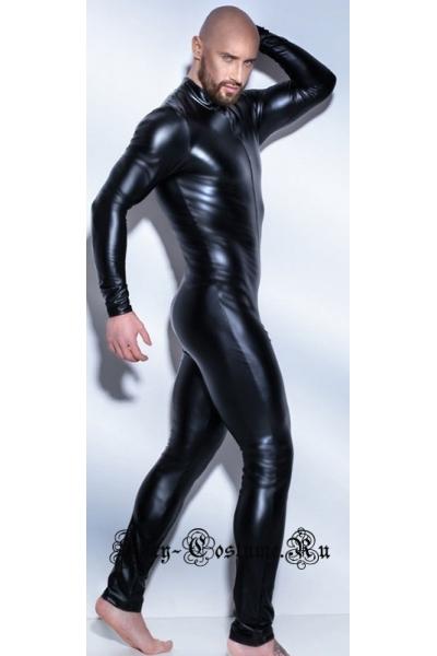Виниловый комбинезон стрипмен черный w0917