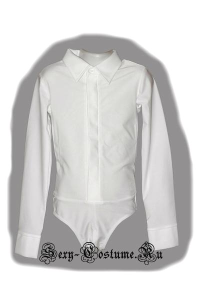 Рубашка черная на молнии для бальных танцев мальчик pm2.1