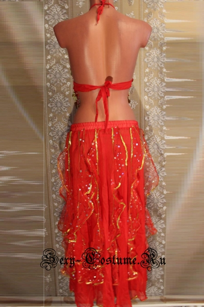 Восточная танцовщица красная китай lu1149-5