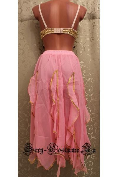 Восточная танцовщица светло-розовая в паетках лиф lu1015-70