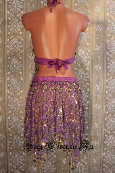 Восточная танцовщица фиолетовая китай lu800-3
