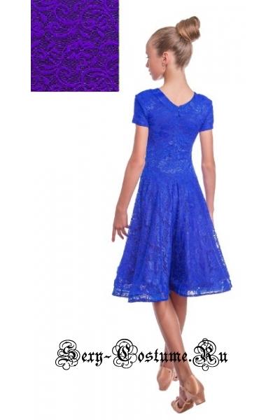 Платье рейтинговое фиолетовое с ригилином рост 134-140см Россия пр1.1р фиолетовый