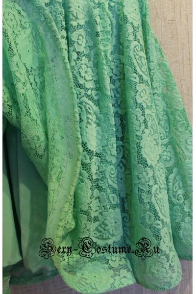 Платье рейтинговое с ригилином светло-зеленая рост 140-146см Россия пр1.11р мятный