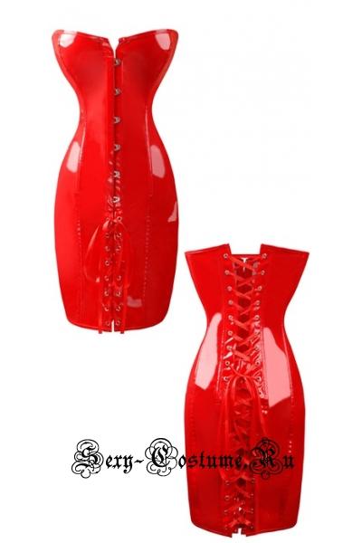 Корcетное платье красная 1217