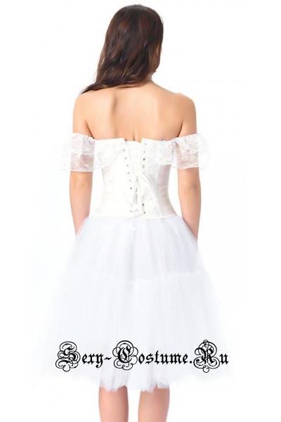 Белый наряд принцессакорсетный костюм m20251