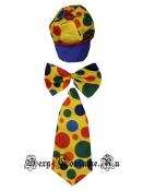 Набор клоуна кепка + галстук + бант синтетика