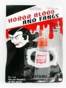 Зубы вампира + кровь
