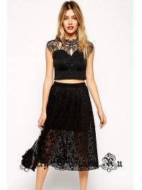 Платье черное кофта + юбочка