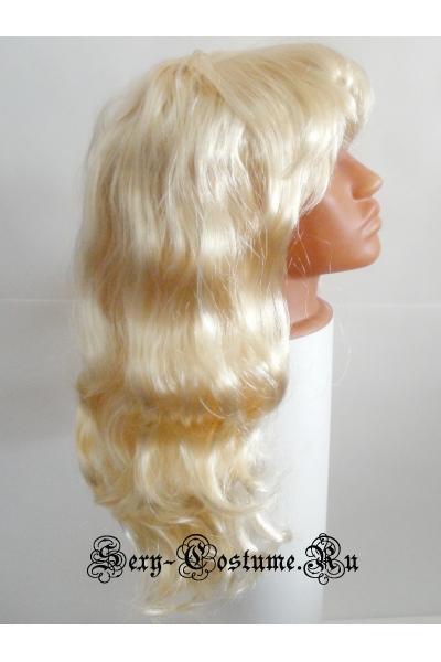 Парик прямые локоны блонд s32014