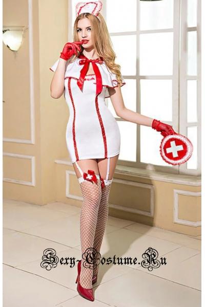 Медсестра трансформер платье + чулки nightks lu9703