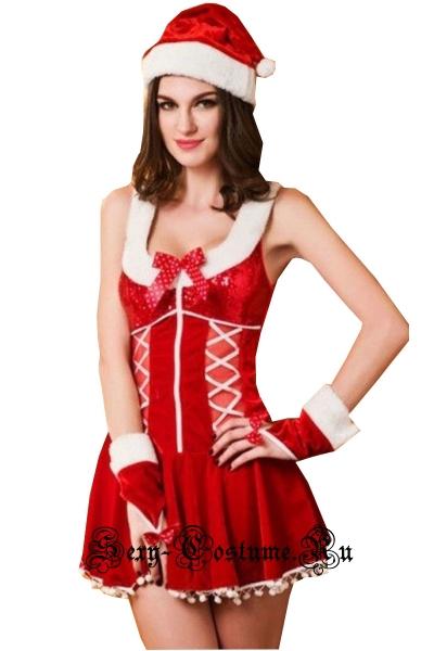 Красная подружка санты снежная девушка lu9637