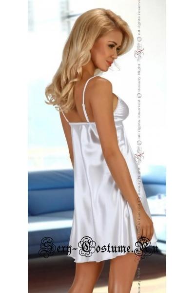 Сорочка гладкая белая классика образа beauty night alexandra
