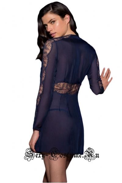 Сорочка темно-синяя очаровашка 3106-5