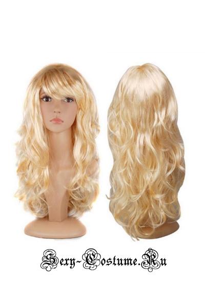 Парик завитушки - светло-блонд s32019