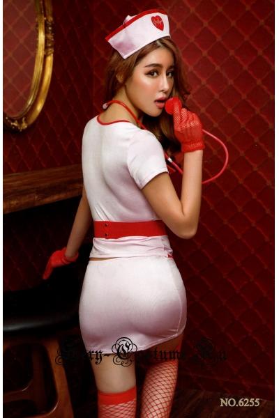 Медсестра светло-розовая + чулки nightks lu6255