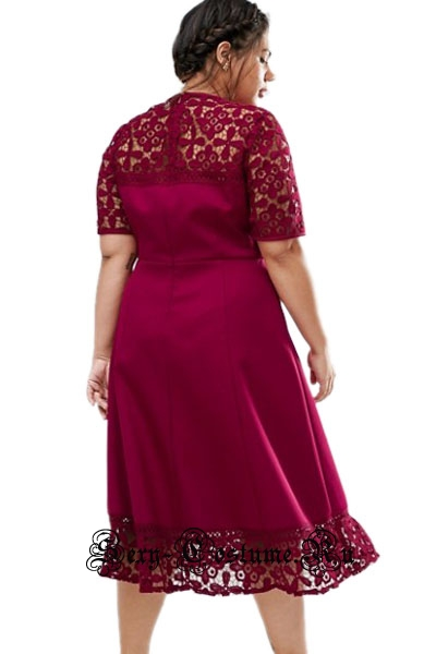 Темно-розовое платье клубное длинное 2xl n61416