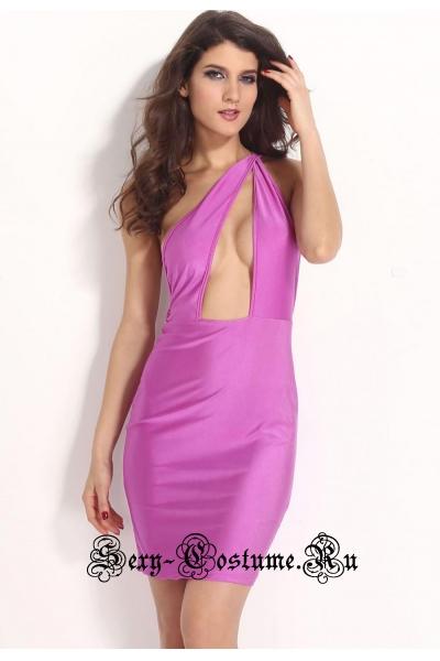 Светло-розовое платье клубное d21074-2