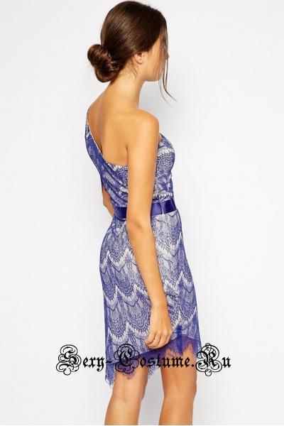 Сине-сиреневое платье клубное d22099